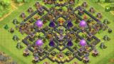 COC玩家分享:九本阵型 美观均衡对称