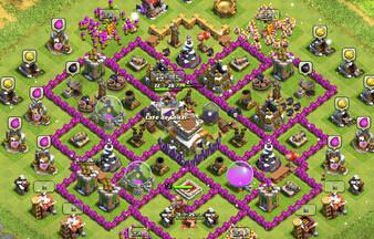 COC部落冲突八本 玩家分享防猪防龙阵型
