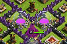 部落冲突玩家分享 接近完美八本资源防守阵