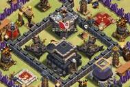 玩家分享:COC九本部落战阵型和建筑摆放思路