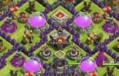 部落冲突玩家分享 九本初级护资源阵型