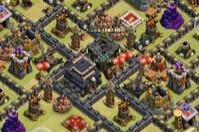 大本与城堡并排居中 COC九本部落战阵
