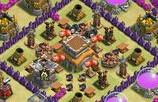 部落冲突玩家分享:8本中后期部落战阵型