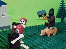 COC粉丝自制:小玩具还原部落冲突村庄场景